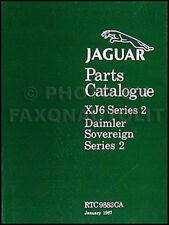 Jaguar XJ6 Parts Book 1972 1973 1974 1975 1976 1977 1978 1979 Series 2 Catalog