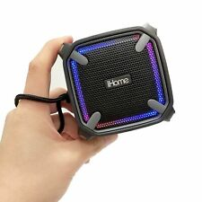 ihome bluetooth rechargeable mini speaker cube ibt16gc grey