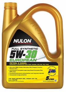 Nulon Full Synthetic Euro Engine Oil 5W-30 5L EURO5W30-5 fits Seat Ibiza 1.2L...