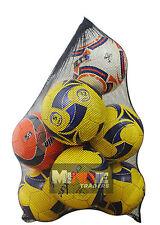 Maglia CALCIO IN RETE NERO trasportare Sack 10 Palla con coulisse Netball