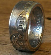 Coin Ring Made From a Silver Barber Half Dollar in Size 8-14