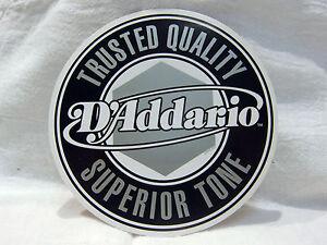 DADDARIO GUITAR STRING BASS STRING DECAL STICKER CASE RACK BUMPER STICKER NICE
