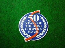 50 years of the mini cooper S BMC Austin morris rover BMW decal sticker 2pc