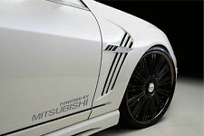 Powered by MITSUBISHI Sport Racing Decal sticker emblem logo SILVER Pair