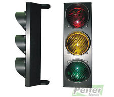 Triple traffic light yellow-red-green lamp with LED card, power supply 230 Vac