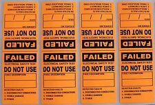 250 PVC ELECTRICAL / APPLIANCE TEST TAGS / LABELS. INCLUDES FREE CUSTOMISING