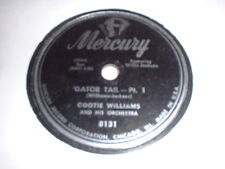 78RPM Mercury 8131 Cootie Williams and His Ork, Gator Tail Parts 1 and 2 V+