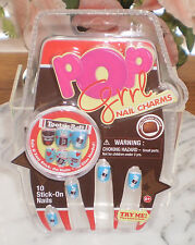 ~~ONE (1) POP GIRL CHARMS STICK-ON NAILS-TOOTSIE ROLL COLLECTION CHOCOLATE SCENT