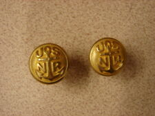 Original WW1 US NAVY RESERVE Aviation Officers Visor Hat Gold Button Set-USNR