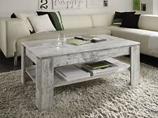 Superb Vintage Rustic Coffee Table Shabby Chic Grey White Wooden Side End Storage  Shelf