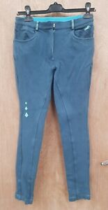NEW WITH DEFECTS ** HARRY HALL **  LADIES SIZE 10/26R TEAL JODHPURS