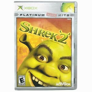 XBox Platinum Hits Shrek 2 Family Game CIB Complete In Box With Manual 2004