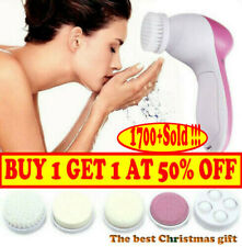 5 in1 Electric Facial Face Spa Cleansing Brush Beauty Cleanser Exfoliator C7