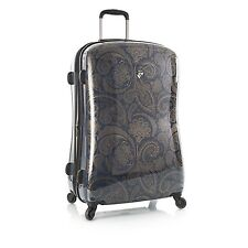 "Heys Indigo Paisley Fashion Suitcase 30"" Spinner Luggage"
