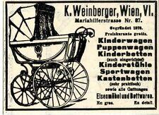 Kinderwagen Puppenwagen Kinderbetten Weinberger Wiener Annonce 1910