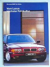 PROSPEKT BMW 7er e 38 - 730i, 740i, 750i, per Premiere, 1.1994, 22 pagine