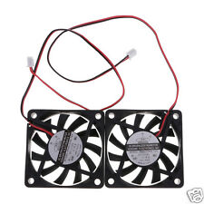 2pcs 60 mm 3500H PC CPU Cooling Fan DC 12V Sleeve Computer Case Quiet Connector