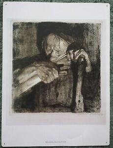 Vintage Kathe Kollwitz Sharpening The Scythe Print
