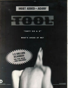 Tool 1997 Ad- Forty Six & Two Advertisement