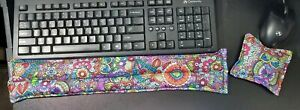 Computer Keyboard Wrist Supports, heat pad, rice bag, floral