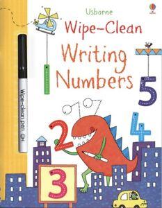 Usborne Wipe-Clean Writing Numbers (Paperback & Wipe Clean Pen) FREE ship $35