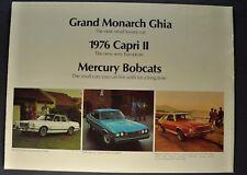 1976 Mercury Brochure Capri II Bobcat Monarch Ghia Bart Starr Excellent Original
