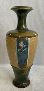 Royal Doulton Lambeth Studio Stoneware Pottery Vase Maud Bowden Circa 1920's