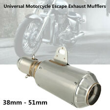 Universal Motorcycle Bikes Stainless Steel 51mm Escape Exhaust Muffler Pipe Kit