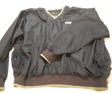 Men's 2XL Page & Tuttle Men's Navy Golf Pullover Coat Jacket CSX Train Collector
