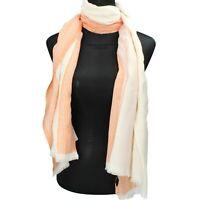 pareo stola sciarpa donna NALI' bianco cotone arancione AF447
