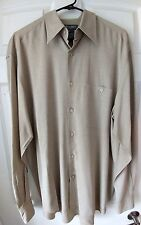 Mens Long sleeve Button Down Mondo Di Marco, Italian made Size LG 100% rayon