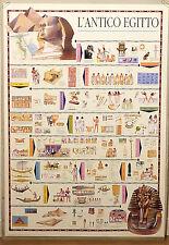 (PRL) 1994 L'ANTICO EGITTO STORIA EGYPT EGYPTE VINTAGE AFFICHE ART PRINT POSTER