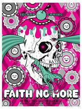 FAITH NO MORE silkscreened poster Auckland 2010 by Brian Ewing & Buff Monster
