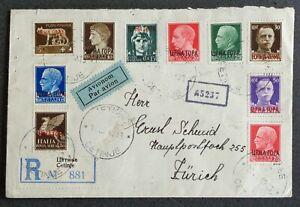 MONTENEGRO 1943: R via aerea CETINJE–ZÜRICH Svizzera