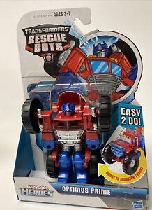 OPTIMUS PRIME MONSTER TRUCK Playskool Heroes Transformers Rescue Bots new
