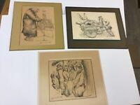 Three New York Artist Seymour Rosenthal Signed Lithographs