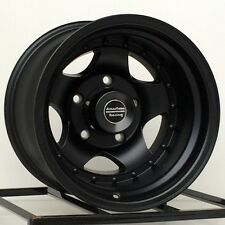 15 Inch Black Wheels Rims Import Truck Toyota Isuzu GM Chevy Truck 6 Lug 15x10