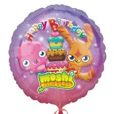 "HELIUM FOIL BALLOON 18"" ROUND SHAPE MOSHI MONSTERS HAPPY BIRTHDAY"
