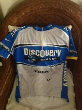 nike dri fit discovery channel cycling jersey size XL mens