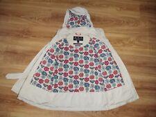Barbour Liberty art fabrics ladies womens white belt jacket size US 4