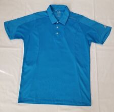 Mens Size Medium Blue Adidas Climacool Formotion Golf Polo Shirt preowned