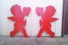 CUPID with Heart Pair Valentine Yard Art Decoration 2 pieces