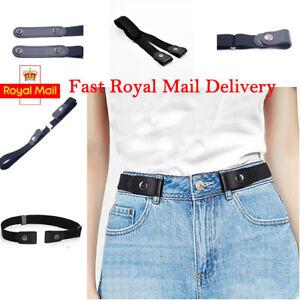 Unisex No Bulge Hassle Buckle-Free Elastic Belts Invisible Belt for Jeans Dress