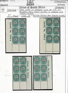 South Africa 1933-54 ½d Springbok Def Issue 19 Cylinder Blocks on Page Fine Mint