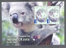 Australia-Indonesia min sheet(3093)2012-fine used cto -Koala Bear