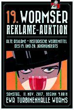 19. Wormser Reklame - Auktion 11. November 2017