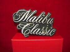 Vintage Malibu Classic Script Emblem Grille Nameplate Ornament Trim RARE OLD