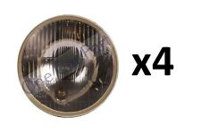 """4x COPPIA UNIVERSALE 5 1/2"""" 140 mm HEADLIGHT FARO TRATTORE E CERTIFICATA"""