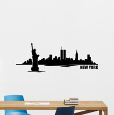 New York Skyline Wall Decal USA City Bedroom Vinyl Sticker American Decor 139hor