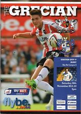 Exeter City V Bury 2013-2014 MINT programme